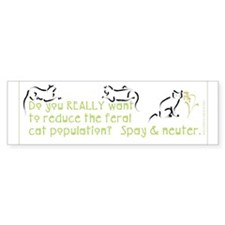 Spay & Neuter Bumper Bumper Sticker