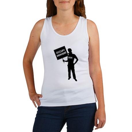 Occupy Denver Sign Women's Tank Top