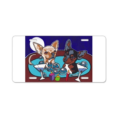 Chihuahua Hot Tub Aluminum License Plate