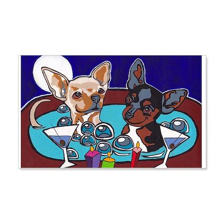 Chihuahua Hot Tub 22x14 Wall Peel