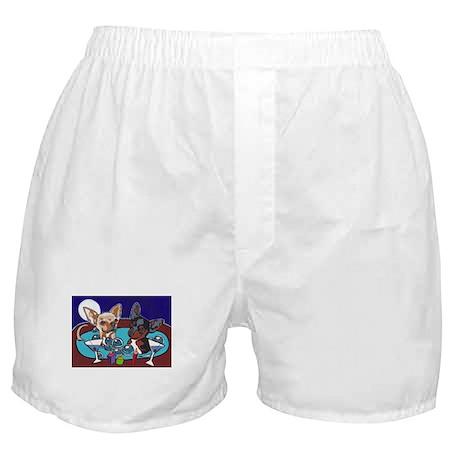 Chihuahua Hot Tub Boxer Shorts