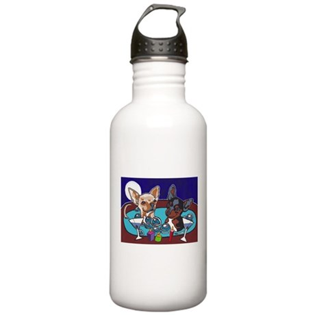 Chihuahua Hot Tub Stainless Water Bottle 1.0L