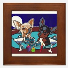 Chihuahua Hot Tub Framed Tile