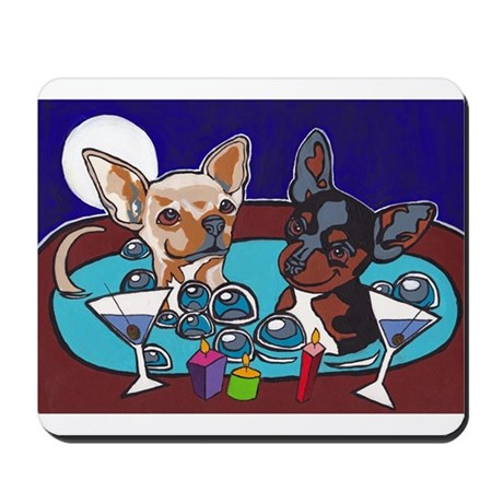 Chihuahua Hot Tub Mousepad