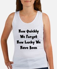 How Quickly We Forget How Luc Women's Tank Top