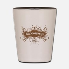 2012 Grunge Groomsman Shot Glass