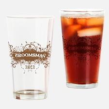 2012 Grunge Groomsman Drinking Glass
