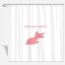 Pink Dinosaur Make Cancer Extinct Shower Curtain