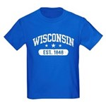 Wisconsin Est. 1848 Kids Dark T-Shirt