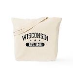 Wisconsin Est. 1848 Tote Bag