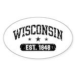 Wisconsin Est. 1848 Sticker (Oval)