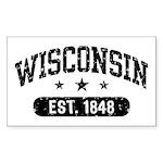 Wisconsin Est. 1848 Sticker (Rectangle)