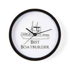 Best Boatbuilder Wall Clock