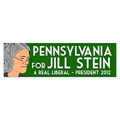 Pennsylvania for Jill Stein bumper sticker