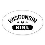 Wisconsin Girl Sticker (Oval)