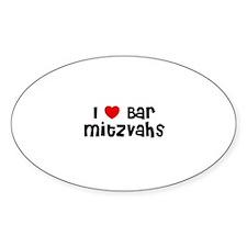 I * Bar Mitzvahs Oval Decal