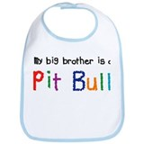 Big brother pit bull Cotton Bibs