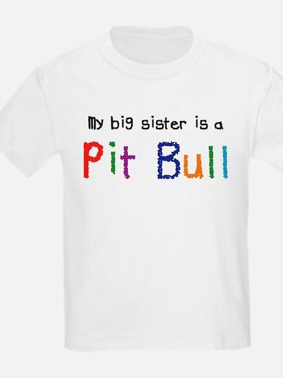Big Sis is a Pit Bull T-Shirt