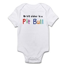 Big Sis is a Pit Bull Infant Bodysuit