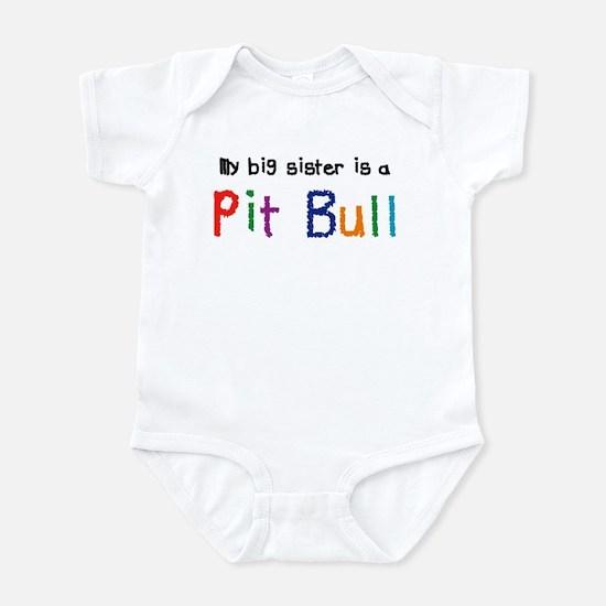 Big Sis is a Pit Bull Infant Bodysuit