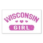 Wisconsin Girl Sticker (Rectangle)