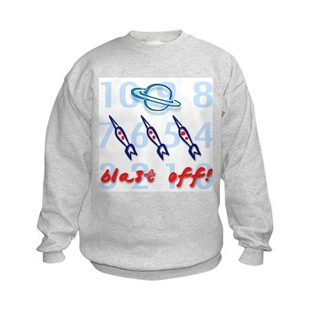 Blast Off - Space Design Kids Sweatshirt