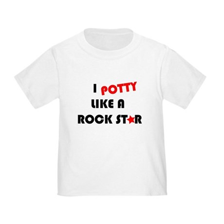 Potty like Rock Star Toddler T-Shirt
