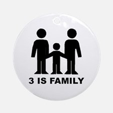 3 is family (first baby) Ornament (Round)