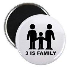 3 is family (first baby) Magnet