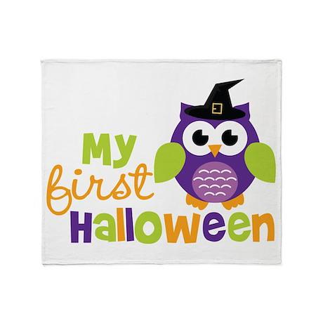 My First Halloween Owl Throw Blanket