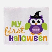 My First Halloween Owl Throw Blanket