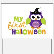 My First Halloween Owl Yard Sign