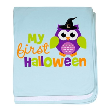 My First Halloween Owl baby blanket
