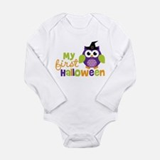 My First Halloween Owl Long Sleeve Infant Bodysuit