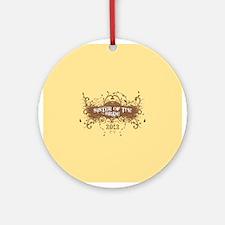 2012 Grunge Bride Sister Ornament (Round)