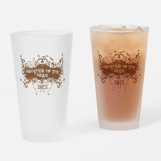 2012 Grunge Bride Brother Drinking Glass