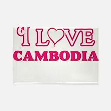 I love Cambodia Magnets