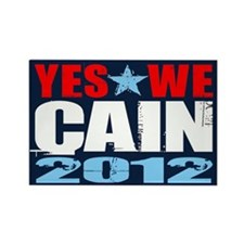 Yes We Cain Rectangle Magnet