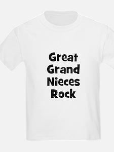 Great Grand Nieces Rock Kids T-Shirt