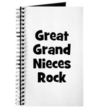 Great Grand Nieces Rock Journal