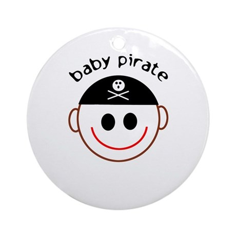 Pirate Baby Captain Ornament (Round)