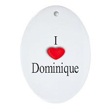 Dominique Oval Ornament