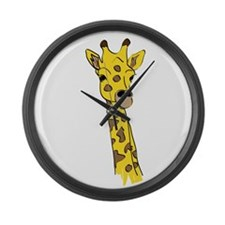 Giraffes Large Wall Clock