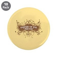 """2012 Grunge Groom Father 3.5"""" Button (10 pack)"""