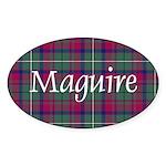 Tartan - Maguire Sticker (Oval)