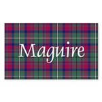 Tartan - Maguire Sticker (Rectangle 50 pk)