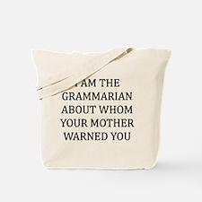 I Grammarian Tote Bag