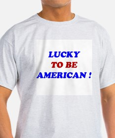 Lucky To Be American Ash Grey T-Shirt