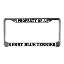 Property Of Kerry Blue Terrier License Plate Frame