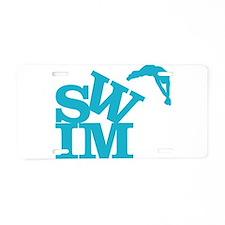 Cute Swimmer Aluminum License Plate